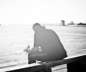 man reflection