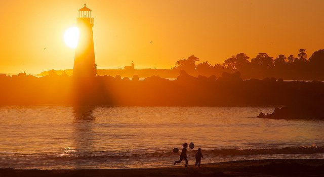 santa cruz lighthouse happy kids